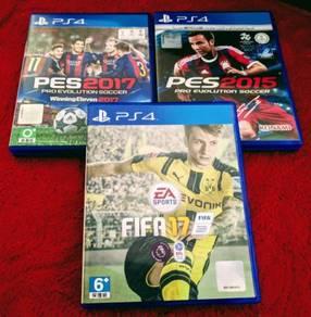 Playstation 4- FIFA 17, PES 2017 AND PES 2015