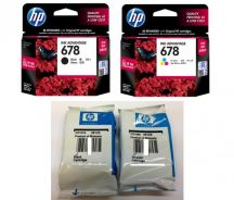 Ink hp 678 black colour