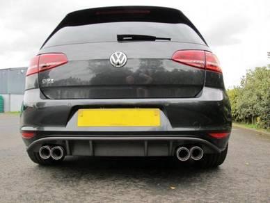 VW Volkswagen Rieger Look Diffuser Golf 7 GTI-Quad