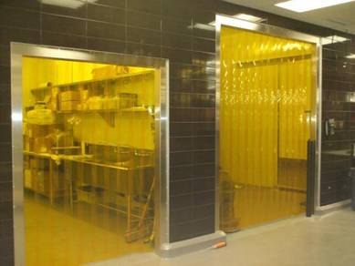 Food Grade Yellow Tinted PVc Curtain