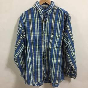 Oshkosh Plaids Blue Shirt Size Large 16 1/2