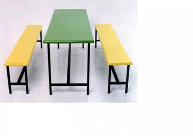 F&B Canteen Cafeteria Fibreglass Table & Bench Set