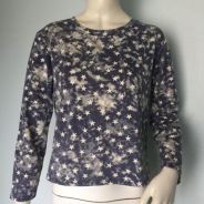 Stars Patterned L/Sleeve Loose Top