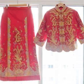 Chinese Traditional Wedding Qun Kua