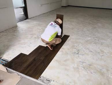Vinyl Floor Lantai Timber Laminate PVC Floor Q291