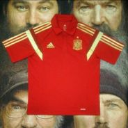 ADIDAS Spain polo ringer t shirt