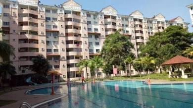 Apt Perdana Villa Klang - Luas 1100sqft - Gated w Swimming Pool