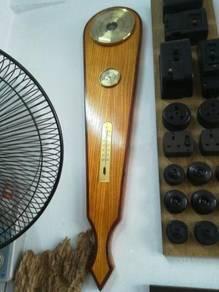 Ber1 Large Antique Barometer Thermo Hygro Antik