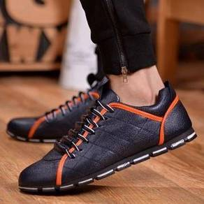 F0243 British Retro Business Blue Sneakers Shoes