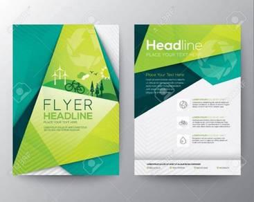 Simple flyer cetak A5/ A4 size