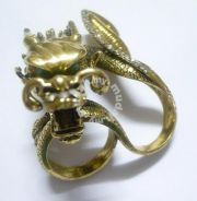ABRB-D005 Two Fingers Crystal Victorian - Dragon