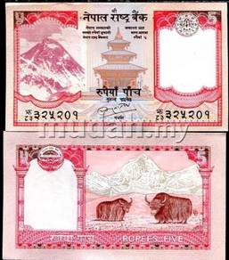 Nepal 5 rupees 2010 p 60 new sign 19 unc