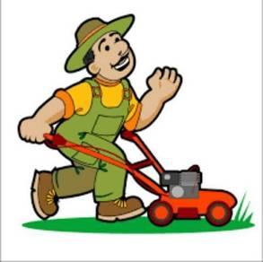 Mesin rumput dan menebang pokok