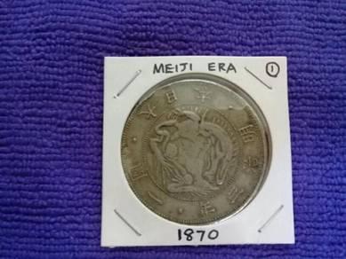 119 duit syiling Meiji coin Era 3 one yen 1870