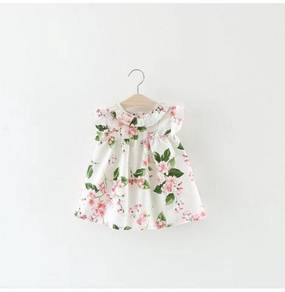 White Floral Baby Dress