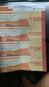 Cash Voucher worth Rm2200