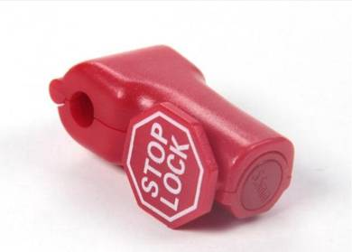 Red Stop Lock With Stop Lock Printing Tag - 6mm