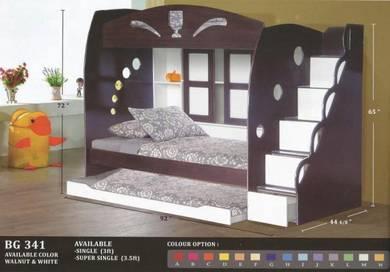 Wooden Children bed -8341