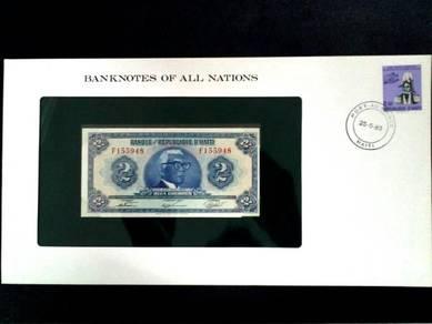 Haiti 2 Gourdes UNC Franklin Mint Banknote F155948