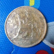 Duit lama/old coin indo-chine francaise 1908