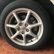 Estima original rim with tyre