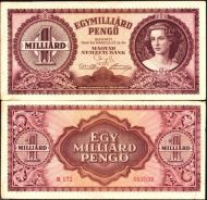 1946 Hungary 1 Billion 1,000,000,000 Pengo VF#B