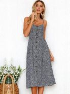 Floral Strap Long Dress 041178*re-stocked* W7