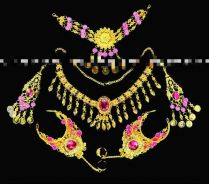 Set of 6pc Belly Dance Jewelry