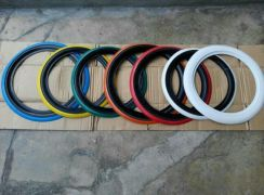 Tyre white wall 16 inchi red black