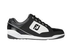 FJ Originals Spikeless Golf Shoes Black/White