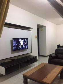 3 bedrooms Permas Ville Apt PERMAS JAYA (Fully Furnished Facing Pool)