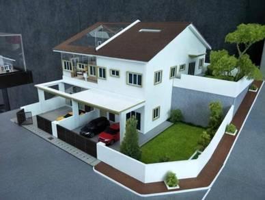 1 Tingkat Rumah Teres 22x70 Tanjung Malim
