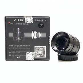 7Artisans 55mm f1.4 FX Lens (Fuji X-Mount) 99%new