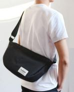 0186 Japanese Retro Black Crossbody Men Sling Bag