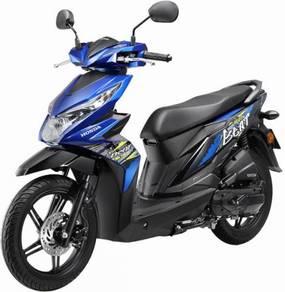 Merdeka murah jual 2019 honda beat muka rendah rs