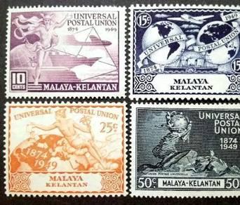 Malaya 1949 Kelantan Universal Postal Union MLH #1