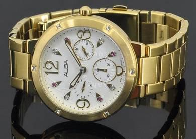 Alba Ladies Swarovski Dress Watch VD75-X060WGG