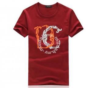 DC Summer Men's Slim Short Sleeve T Shirt (Red)