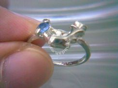 ABRSM-D026 Silver Metal Cute Lovely Dolphin Ring