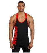 Gym Shark Side Red Wording Singlet (Gym Fitness