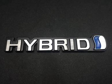 Toyota hybrid metal emblem logo