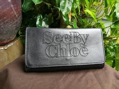 Ori SEE BY CHLOE black leather wallet kueii