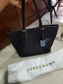 Longchamp cuir leather tote medium