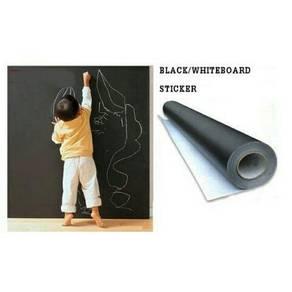 Sticker white/black board 60x200cm