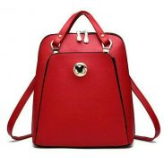 Korean Style PU Leather Mickey Backpack