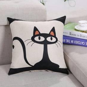 Cat design Pillow case Cushion cover - chair sofa