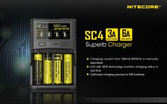 Nitecore SC4 Superb 6A Universal Charger for 18650