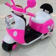 Pink Baby bike motor scooter mini mouse animated/