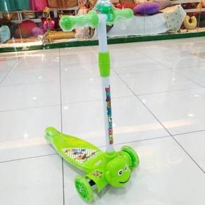 Skuter scooter kids mainan kanak2 green./