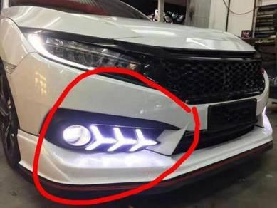 Honda civic fc bodykit front drl daylight singnal
